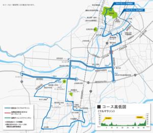 熊本城マラソン-コースマップ