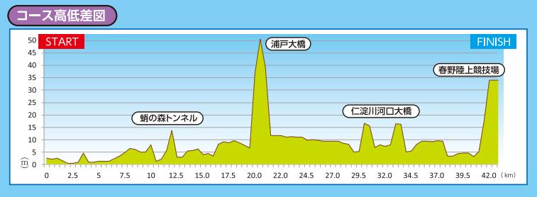 高知龍馬マラソン-高低差